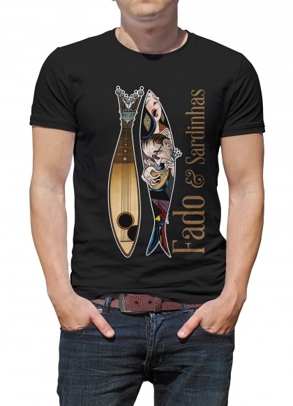 T-SHIRT FADO & SARDINHAS (Disponibilidade: sob consulta | Availability: under consultation)